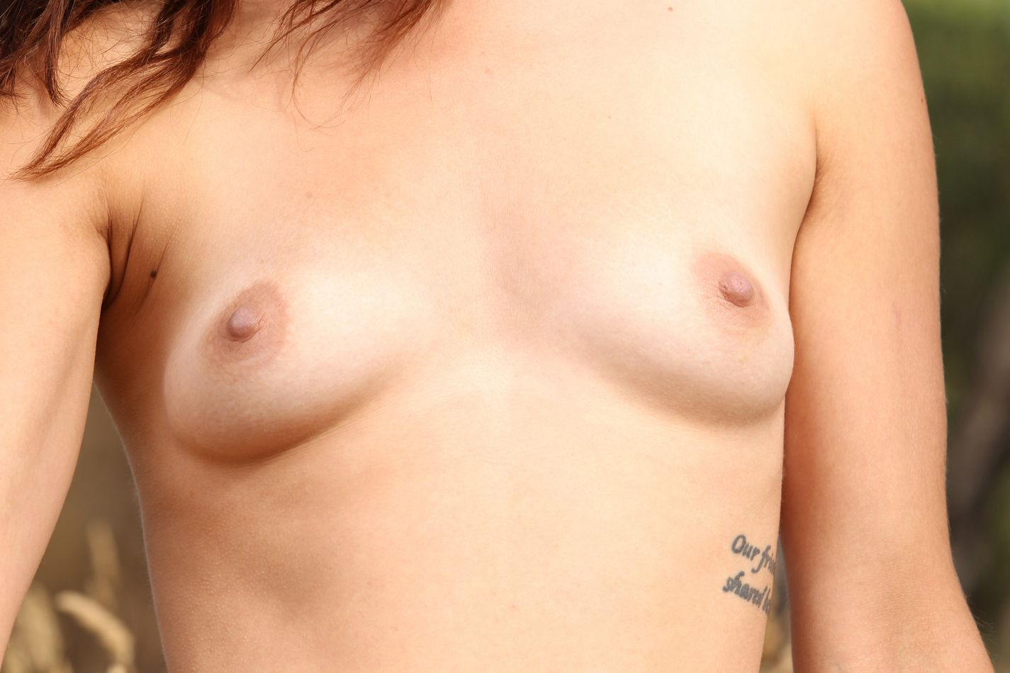 come and take a roll in the long grass totally naked as she fucks herself with a large sex toy-3