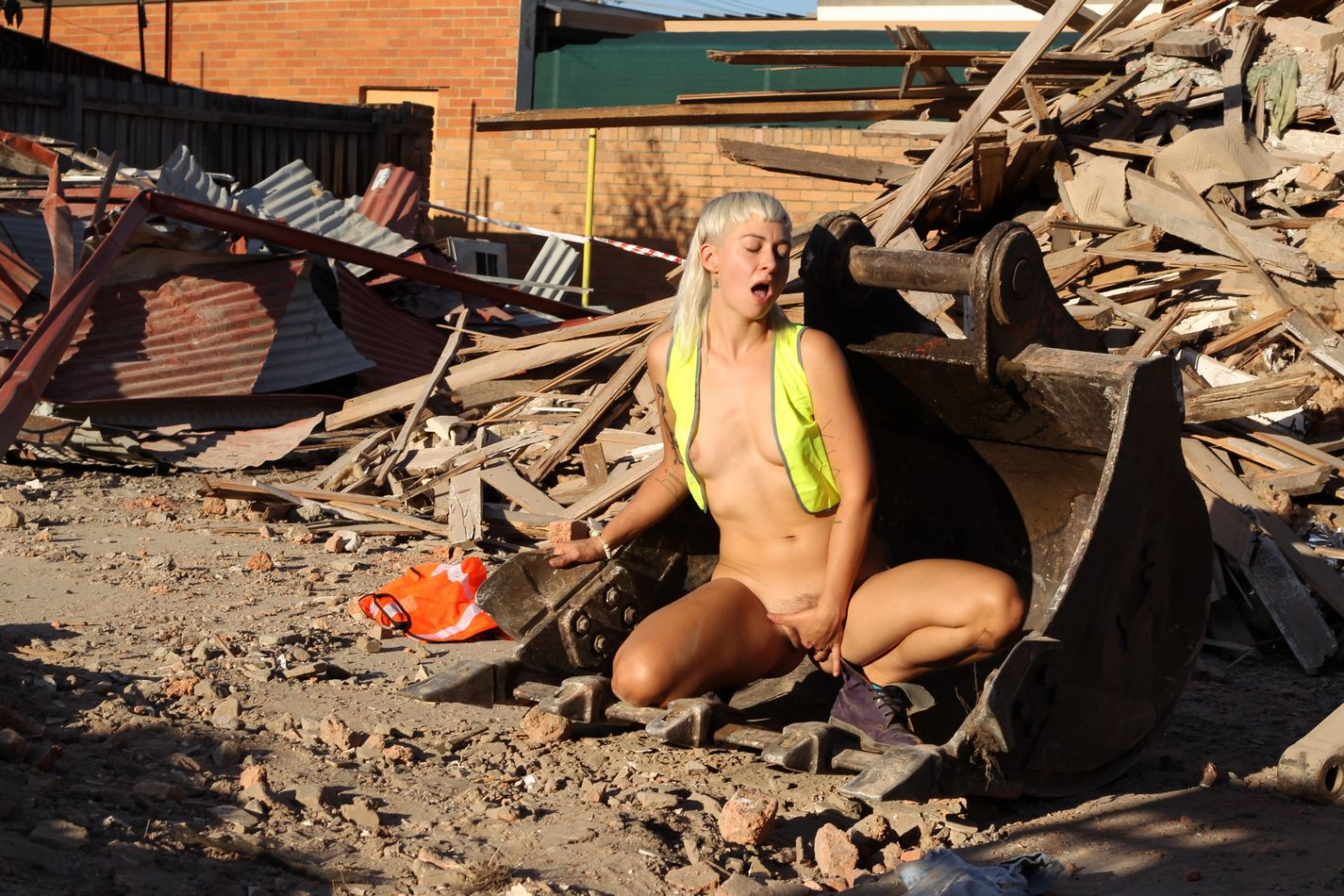 horny blonde amateur steel thinks this construction site is the perfect place for her to strip nude-12