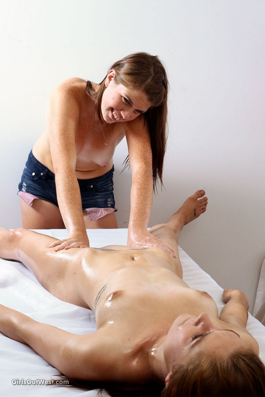 this is the best massage ever rylee enjoys some oiled up fun as both girls take the time to pleasure each other-13