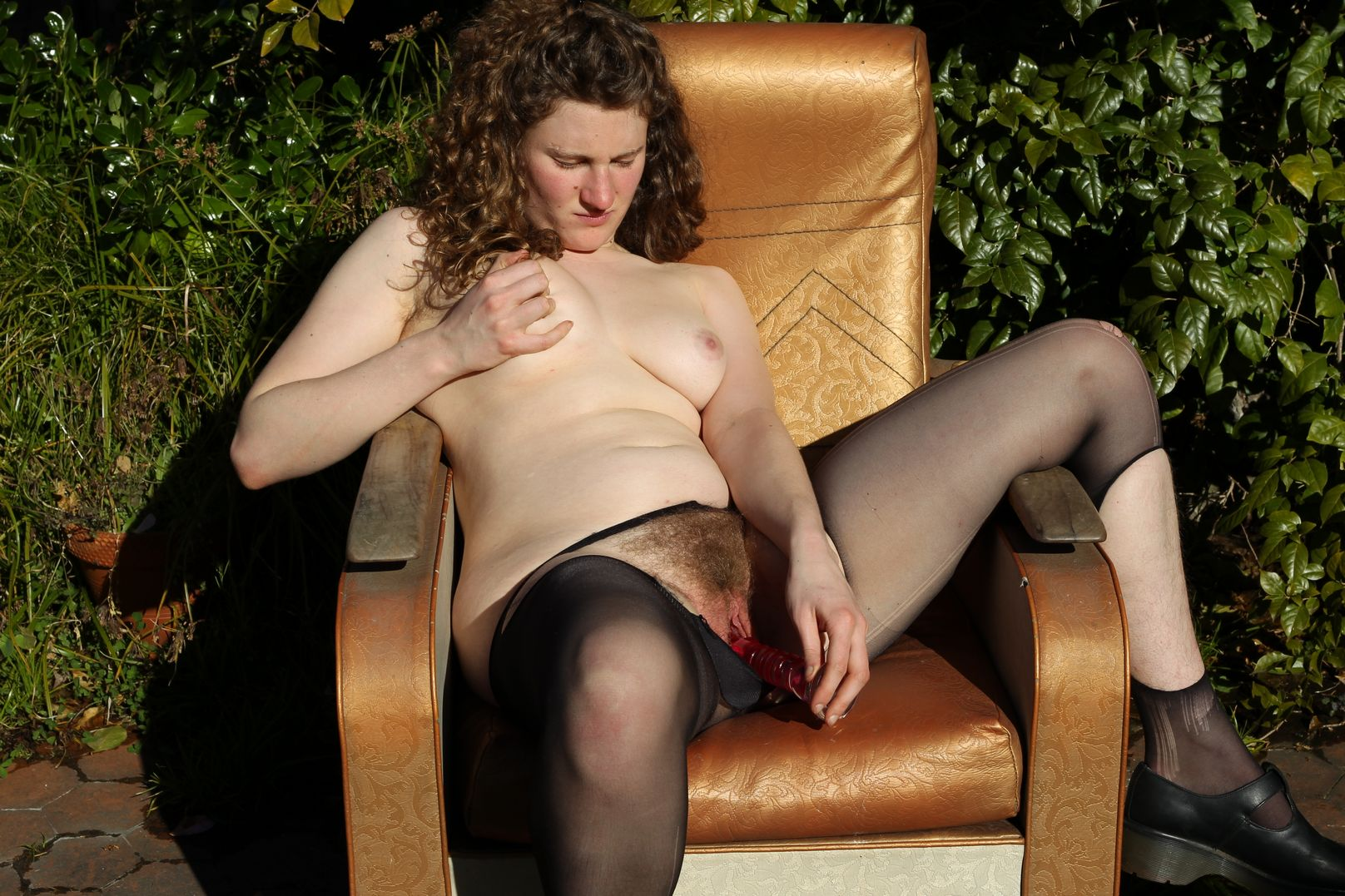 vanessa looks sexy in her black stockings watch her remove them and enjoy her working that hot pussy-6